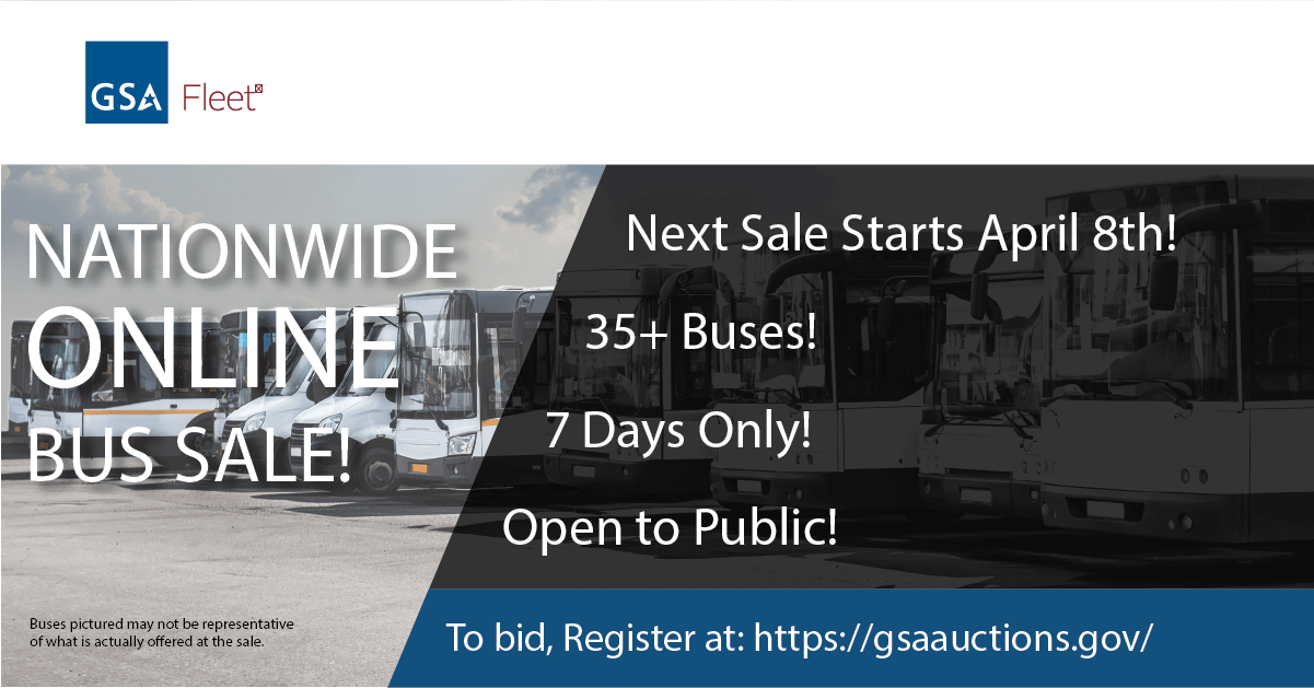 GSA Fleet's ONLINE Bus Sale